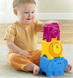 New Fisher Price Growing Baby Animal Stack & Nest Blocks Bab