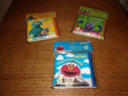 NEW With Tags Lot of Three Soft Vinyl Bath Books For Baby Se