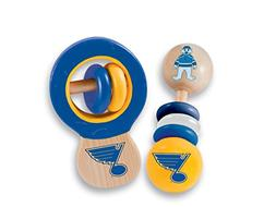 MasterPieces NHL St. Louis Blues Baby Rattle, 2-Pack