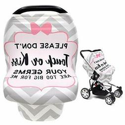 No Touch Sign Car Seat Cover for Babies, Mom Privacy Breastf