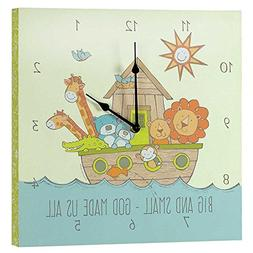 Dicksons Noah's Ark Big and Small God Made Us All Wall Clock