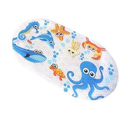 FEIDOL Non Slip Baby Bath Mat with Suction Cups for Tub, Sho