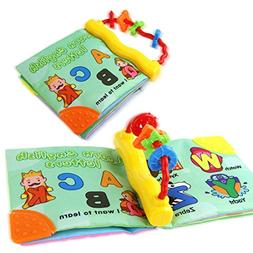 Coolplay Non-toxic Cloth Soft Book-Teether Rings-Infant Baby