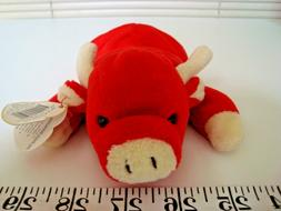 NWT 1995 TY Beanie Babies Snort Pig Handmade in China for Ko
