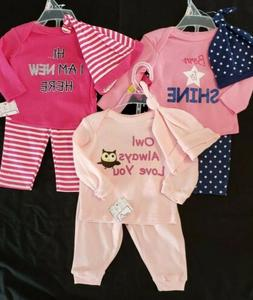 NWT 3 Swiggles Outfits For Infant Girl 0-3 Month Size