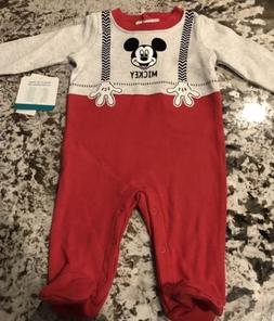 NWT BABY BOY 1 PIECE DISNEY MICKEY MOUSE OUTFIT SIZE 0-3 MON