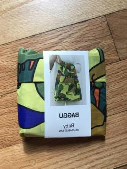 NWT Baby Baggu Nylon Tote in Dinosaurs Pattern; Folds Into P