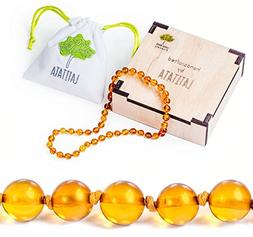 Natural Organic Baltic Amber Teething Necklace  for Babies &