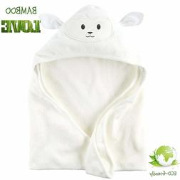 Lucylla Organic Bamboo Baby Hooded Towel Ultra Soft & Super