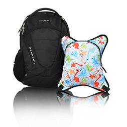 Obersee Oslo Diaper Bag Backpack with Detachable Cooler, Din