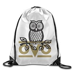 Bekey Owl OVO Drawstring Backpack Sport Bag For Men & Women