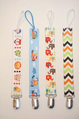 Pacifier Clip 4-Pack, Binky Holder for Babies Universal Soot