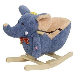 Peach Tree Baby Elephant Rockers Kids Toy Plush Rocking Hors