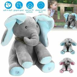 Peek-a-Boo Elephant Stuffed Doll Animated Talking and Singin