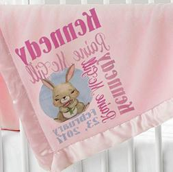 Personalized Baby Blanket  Super Soft Micro Plush Fleece wit