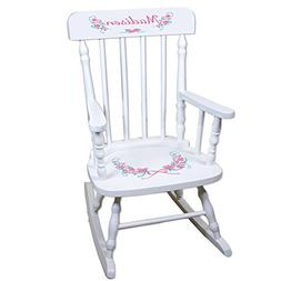 Personalized Vintage Garland White Childrens Rocking Chair