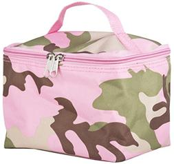 World Traveler Pink Camouflage Cosmetic Makeup Case