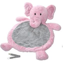 Mary Meyer Pink Elephant Best Ever Baby Mat with Pacifier Cl