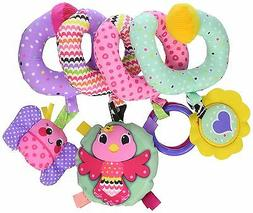 NEW Pink Baby Spiral Activity Toy Play Fun Hanging Cute Crib
