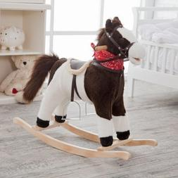 Charm Company Pinto Horse Rocker, Moving Mouth & Tail Ride O
