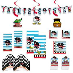 Large Pirate Party Package- Including 2 Tablecloths, 20 Larg