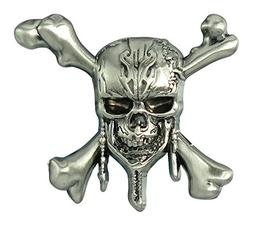 Disney Pirates of the Caribbean-Skull and Cross Bones Pewter