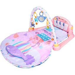 Large Baby Play Mat BATTOP Kick and Play Piano Gym - 5 Toys