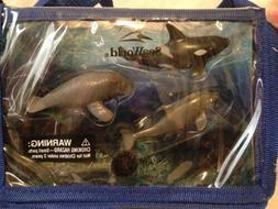 Play Set Seaworld Plastic Toy figures animals whale dolphin