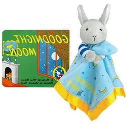 Goodnight Moon Plush Blanket with Board Book