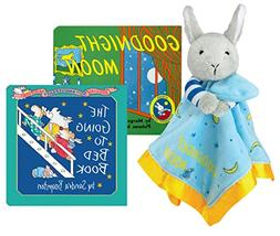 Goodnight Moon Plush Bunny Blanket with Board Book and The G