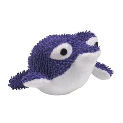 Zanies Plush Primo Pufferfish Dog Toy, 6-1/2-Inch, Purple