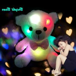 Plush Toys For Girls Baby LED Light Up Soft Stuffed Teddy Be