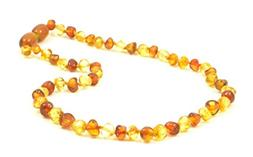 Polished Baltic Amber Teething Necklace - 12.6 inches  - Uni