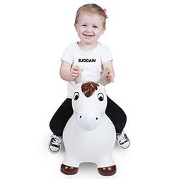 Waddle Pony Bouncy Hopper Farm Animal Inflatable Ride-On Toy