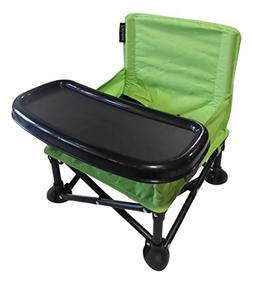 Portable Baby Booster Seat, Folding Baby Chair with Tray and