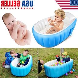 Portable Inflatable Bathtub For Babies Kid Baby Bath Thicken