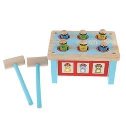 Pounding Bench Wooden Hammer Classic Game Durable Baby Kids