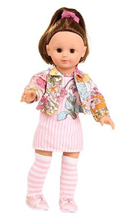 "Gotz Precious Day Elisabeth 18"" Doll with Brown Hair and Bro"