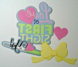 Premade Die Cut Title for Scrapbook Pages, Pregnancy Test, N