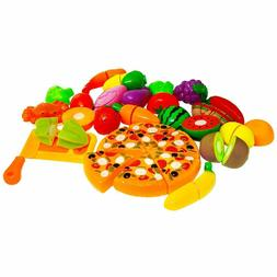 Pretend Play Food Set Fruit and Vegetables Play Cutting Food