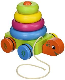 Vilac Pull Along Toy, Turtle Stacker
