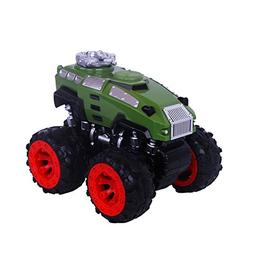 Push Pull Back Car Toys,Red Four-wheel drive go-anywhere veh
