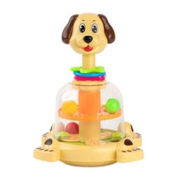 Toy To Enjoy Push & Spin Dog Toy - Easy Press Button Ideal f