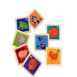 Puzzle Jigsaw Wooden Toys Two layer color Early Educational