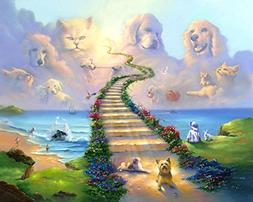 16x20 11x14 or 8x10 Rainbow Bridge All Pets Go Stairway to H