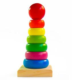 Rainbow Stacking Rings | Wooden Educational Toys to Stimulat