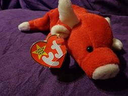 "RARE Retired ""Snort the Red Bull"" Ty Beanie Babies w/near MI"