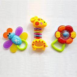 Baby Animals Rattle Toys, Unique Gift Set 3 in 1 - BabyTree
