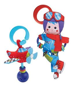 Baby Rattle And Plush Set - Musical Airplane And Pilot Play