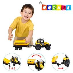 BLAGOO Realistic Farming Tractor with Detachable Dump Traile